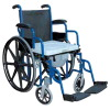Foldable Shower Wheelchair Commode 24 inch wheels