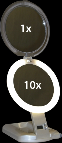 10X Make Up Mirror Magnification Levels