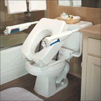 Elevated Toilet Seat Commode for Stroke Patients