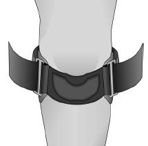 Gel Band Patella Strap Diagram
