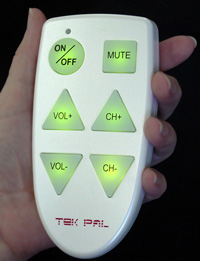 Tek-Pal Remote in use