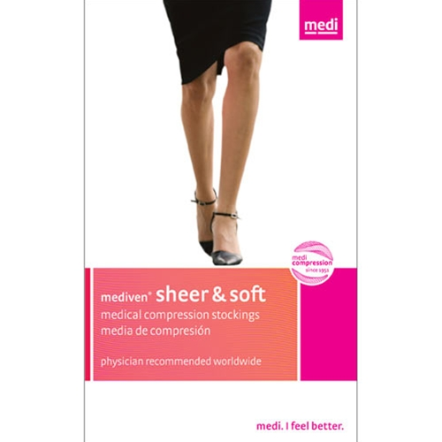 Medius Mediven Sheer & Soft 20-30mmHg Knee High Socks : Natural Size VII at Sears.com