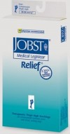 Relief Thigh High Compression Stockings with Silicone Top Band CLOSED TOE 15-20 mmHg by Jobst