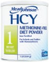 Mead Johnson HCY 1 Infant to Toddler Medical Food for Homocystinuria