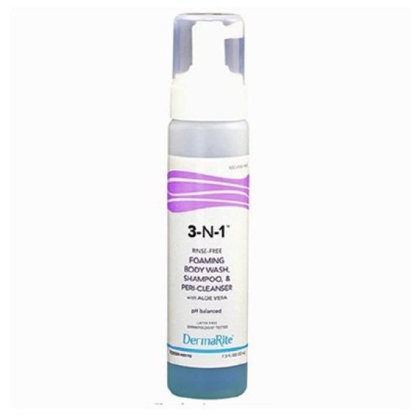 Dermarite Industries No-Rinse Cleansing Foam 3-N-1