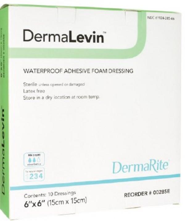 Dermarite Industries DermaLevin Waterproof Adhesive Foam Dressing