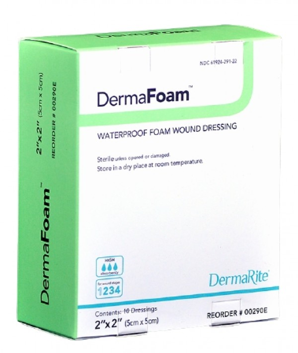 Dermarite Industries DermaFoam Waterproof Foam Wound Dressing