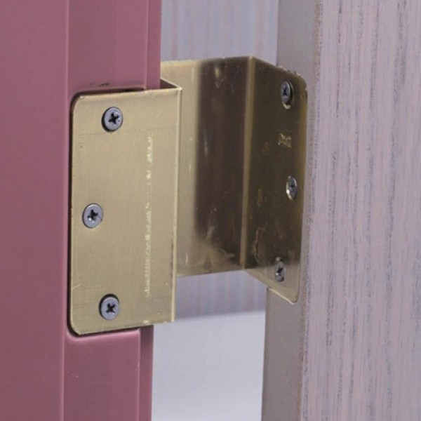 Expandable Offset Door Hinges Brass