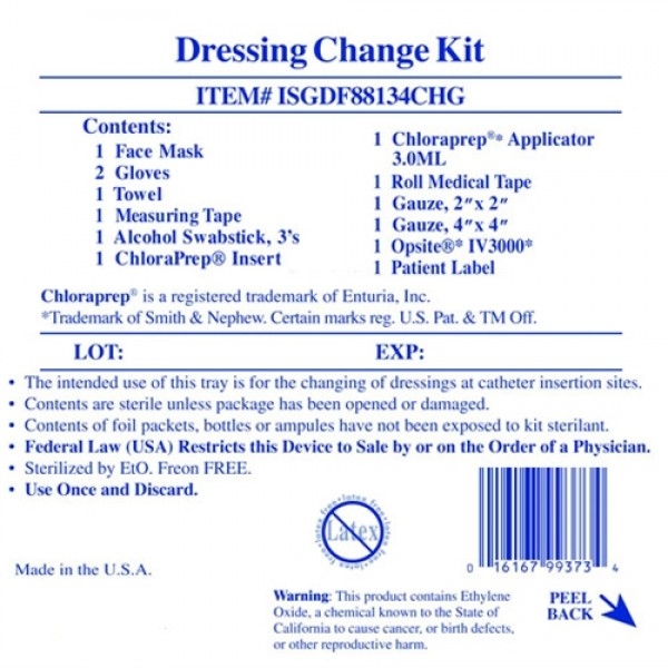 Invacare  Supply Group Drs Change Kit Hard Tray 10pc