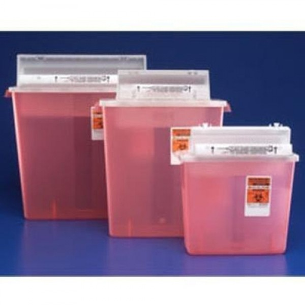 Covidien In-Room  Sharps Containers with Always-Open Lid