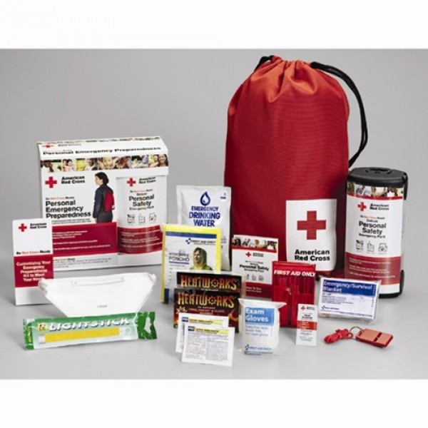 Red Cross Personal Emergency Pack with Backpack RC-622