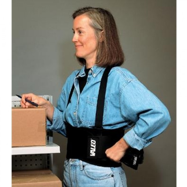 Valeo  VES Elastic Back Belt with Detachable Suspenders
