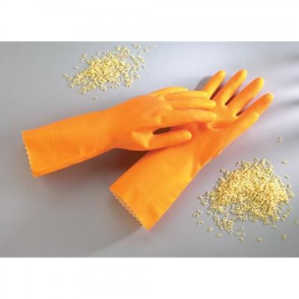 Ansell HyFlex Embossed Soft-Lined Unsupported Heavy Duty Latex Gloves