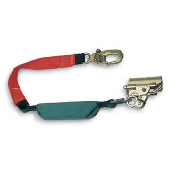 MSA Rope Grab with 3' Dyna-Brake Shock Absorbing Lanyard