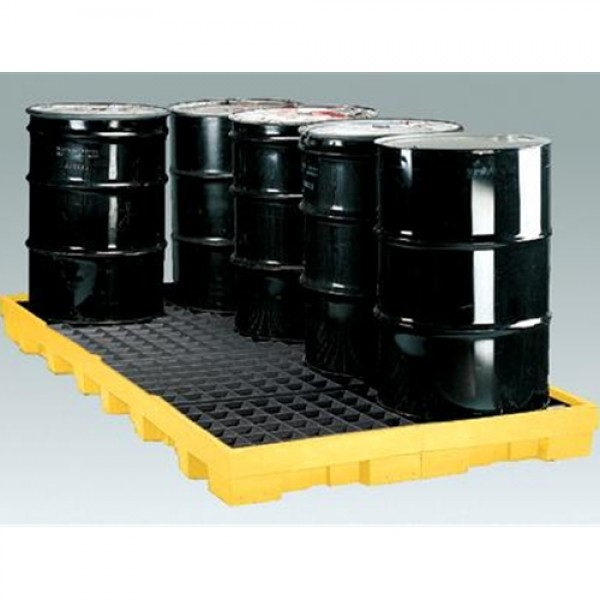 Eagle 8-Drum Polyethylene Low Profile Spill Containment Platform
