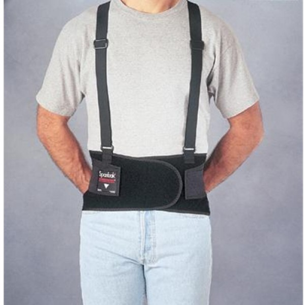 Allegro Industries Spanbak Black 9  Back Support W/Suspenders