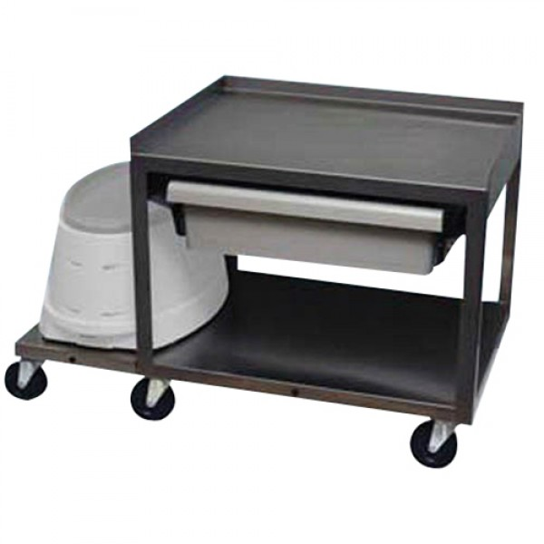 Paraffin Bath 2 Shelf Stainless Cart with Drawer
