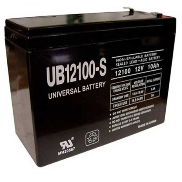 Universal Power Group 10Ah UB12100-S 12V Scooter Battery
