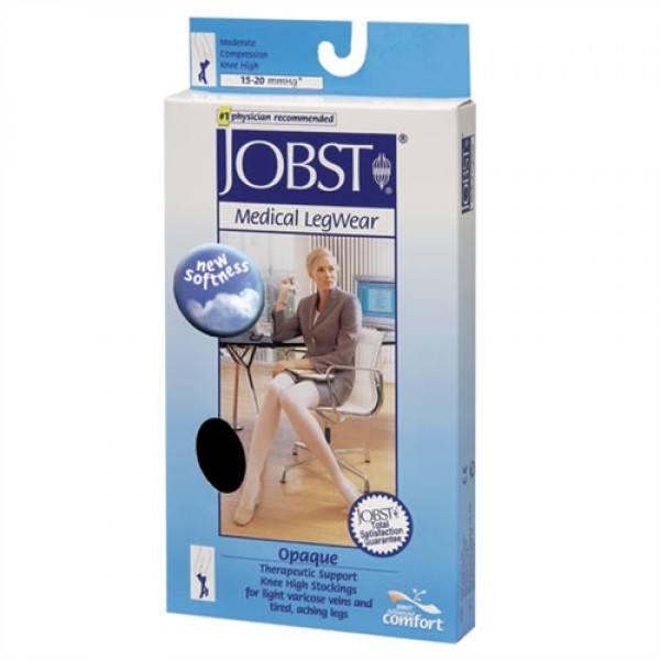 Jobst Opaque 15-20 mmHg Petite Knee High Closed Toe