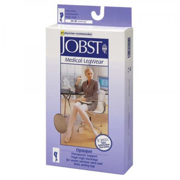 Jobst Opaque 30-40 Petite Thigh High w/ DOT Band