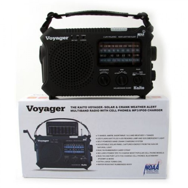 Solar/Dynamo Voyager AM/FM Weather Band w/ Flashlight