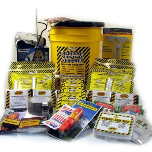 Deluxe Emergency Backpack Kits w/ Honey Bucket