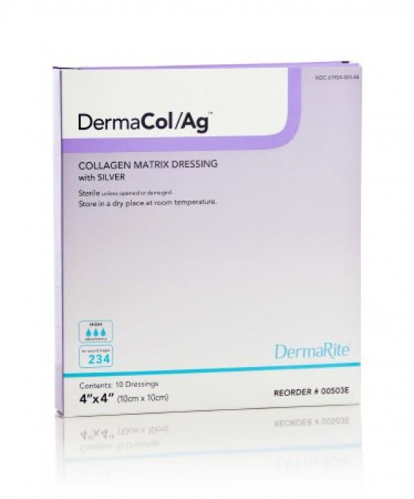 Dermarite Industries DermaCol Ag Silver Collagen Matrix Dressing