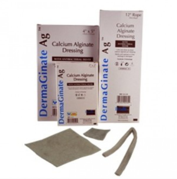 Dermarite Industries DermaGinate Ag Alginate Dressing with Antibacterial Silver