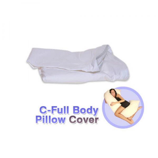 C Full Body Pillow Cover White
