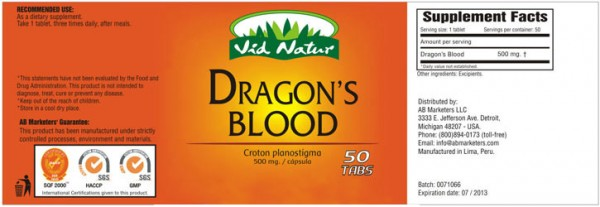Pure Dragons Blood Extracts