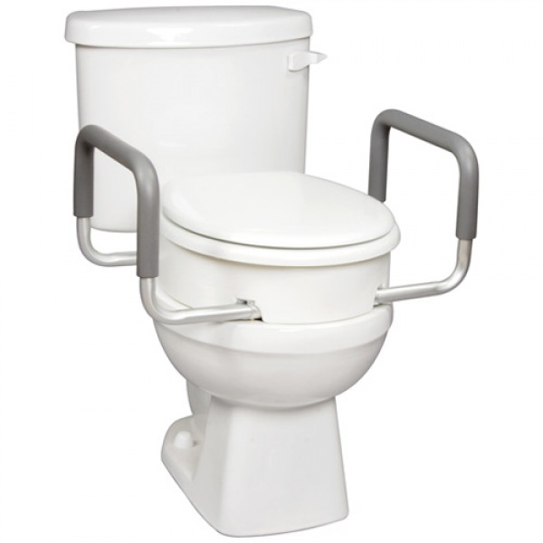 Carex Toilet Seat Elevator with Arms - Round