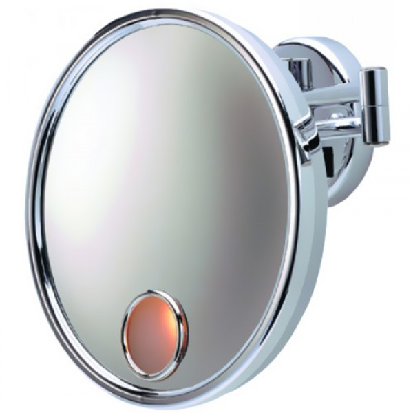 Jerdon JD7C Wall-Mounted Lighted 3X Magnifying  Mirror
