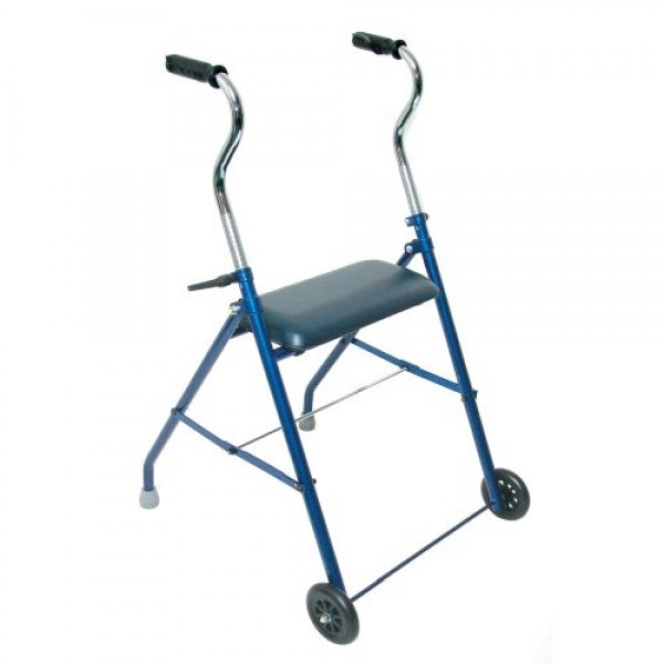 DMI Steel Walker with Wheels and Seat