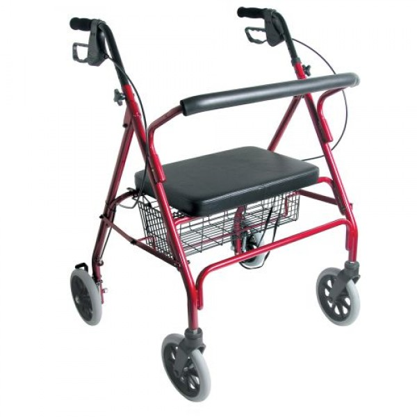 DMI Extra-Wide Heavy-Duty Steel Bariatric Rollator