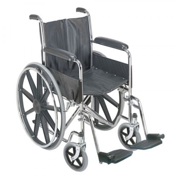DMI 18 inch Wheelchair with Fixed Armrests
