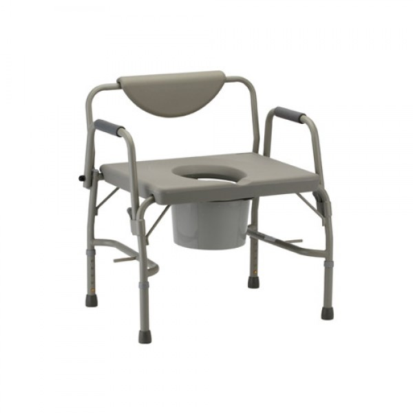 Nova Heavy Duty Drop-Arm Commode & Extra Wide Seat