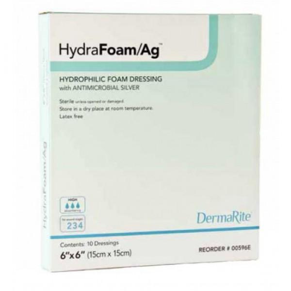 Dermarite Industries HydraFoam Ag Hydrophilic Foam Dressing