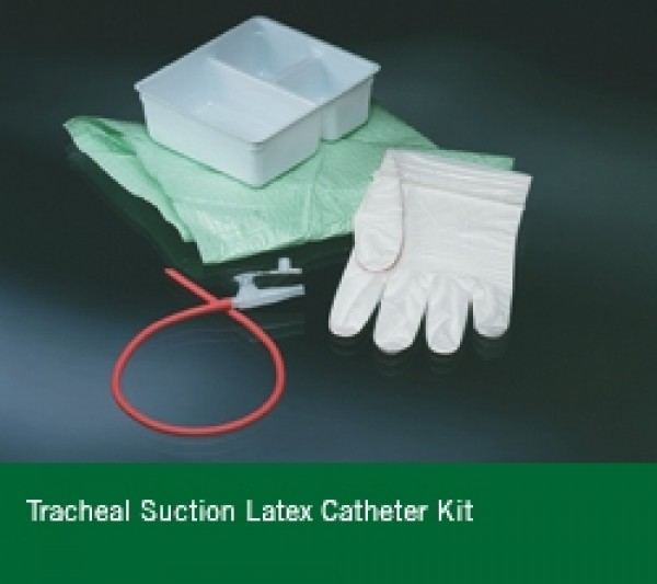 Tracheal Suction Latex Rubber Catheter Two Glove Kit by Bard
