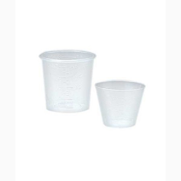 Premium Plastics 1 oz Plastic Calibrated Medicine Cups in Ounces and Mil