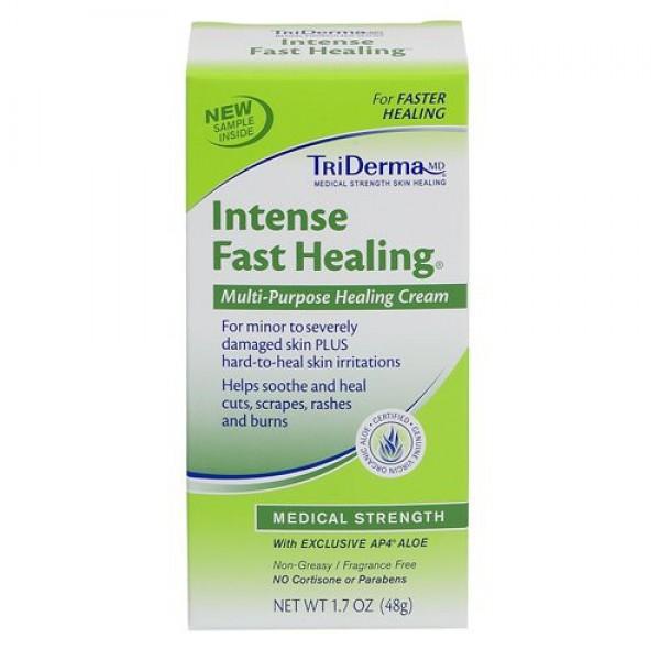 TriDerma Genuine Virgin Aloe TriDERMA Intense Fast Healing Cream 4oz