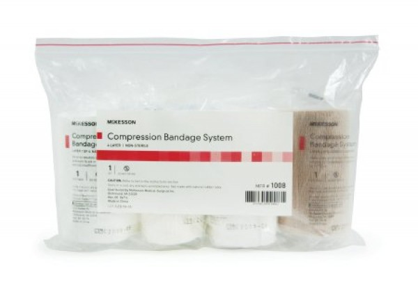 McKesson 4 Layer Compression Crepe Padding Bandage System