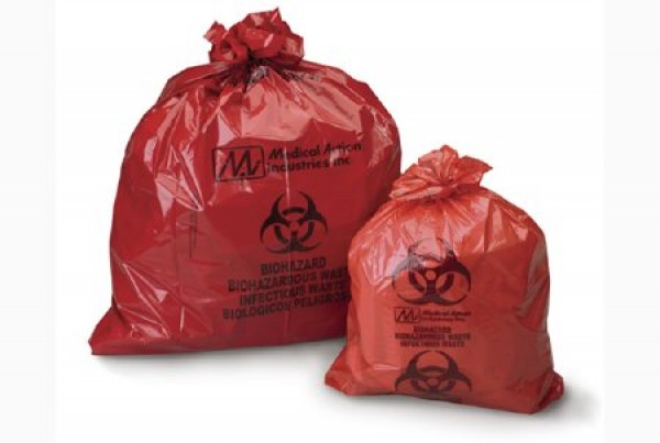 Medical Action Industries Red Biohazard Bag