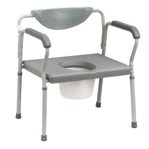 Drive Medical Heavy Duty Bariatric Bedside Commode by Drive