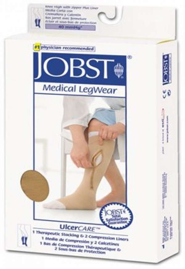 UlcerCare Zippered Knee High Unisex OPEN TOE by Jobst