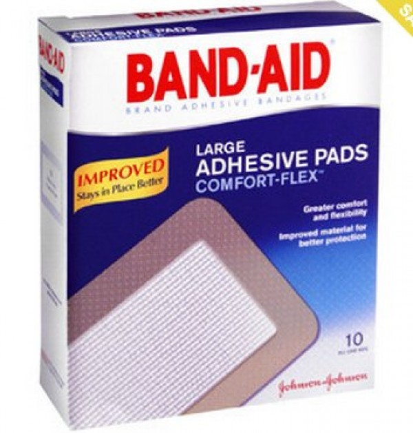 Johnson & Johnson Band-Aid Large Adhesive Pads Comfort-Flex
