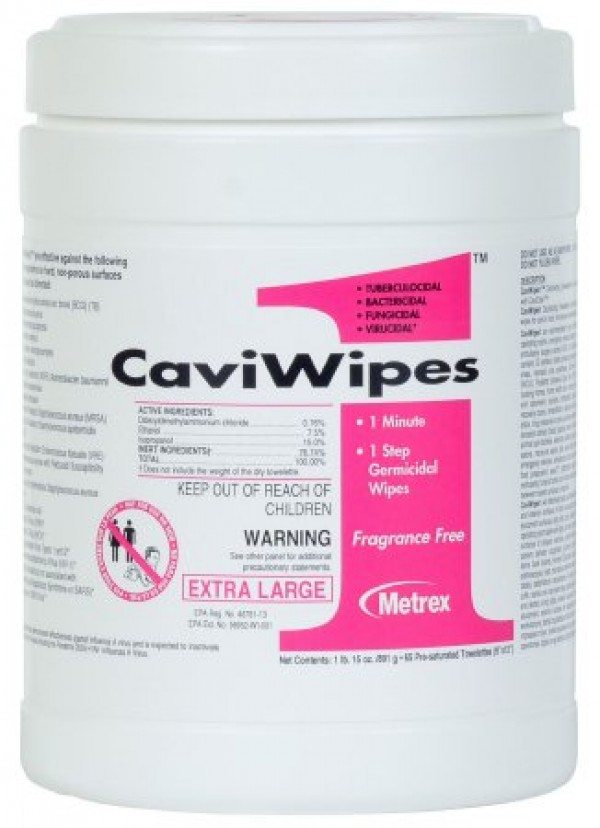 Metrex CaviWipes Surface Disinfectant Wipes