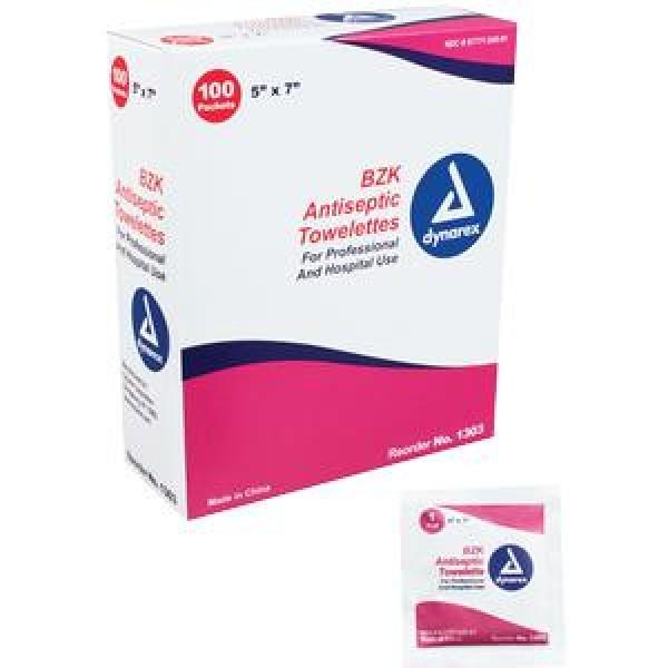 Dynarex Benzalkonium Chloride Antiseptic Towelettes