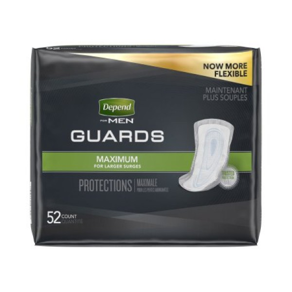 Kimberly Clark Depend Guards for Men Maximum Absorbency