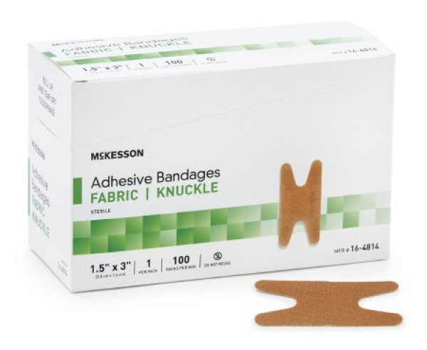 McKesson Performance Adhesive Fabric Knuckle Bandages by Medi-Pak