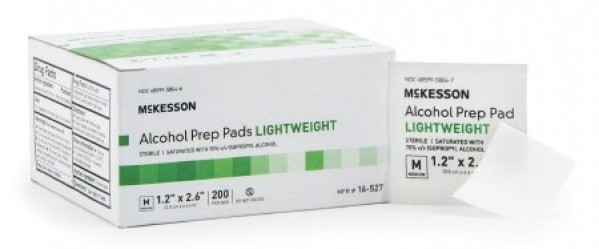 McKesson Lightweight Alcohol Prep Pad